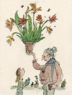 Children's Book Illustration, Watercolor Illustration, Watercolor Art, Quentin Blake Illustrations, Gravure, Easy Drawings, Cartoon Art, Character Design, Poster
