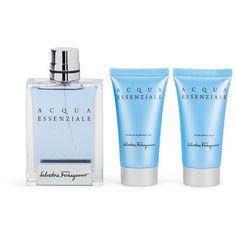 Salvatore Ferragamo Ferragamo Acqua Fragrance Set (€47) ❤ liked on Polyvore featuring beauty products, fragrance, salvatore ferragamo fragrance, salvatore ferragamo perfume, vetiver perfume, fragrance gift sets and aromatics perfume