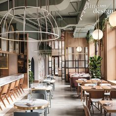 Dining area at Y restaurant in Moscow. Restaurant Asthetíque creates dreamy design concept for The Y restaurant in Moscow
