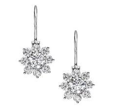 Harry Winston Sunflower wire drop earrings.