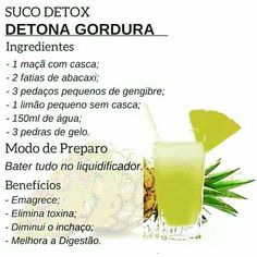 Aproveite receita grátis para fazer suco detox e eliminar gordura. Suco para perder Barriga Para obtener información, acceda a nuestro sitio Smoothies Detox, Detox Diet Drinks, Natural Detox Drinks, Fat Burning Detox Drinks, Detox Juices, Detox Foods, Week Detox Diet, Dietas Detox, Detox Diet Plan