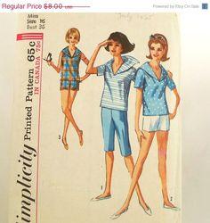 Vintage 60s Sailor Shirt Shorts Pattern Simplicity 5386 by Revvie1, $7.20
