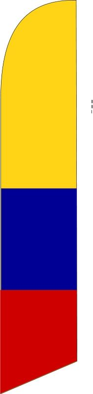 COLOMBIA country swooper feather banner flag