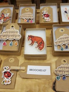 Made in Ashford shop nicola jennings art cloud and animal brooches. Brooches, Cloud, Coasters, Animal, Shop, How To Make, Art, Brooch, Animals