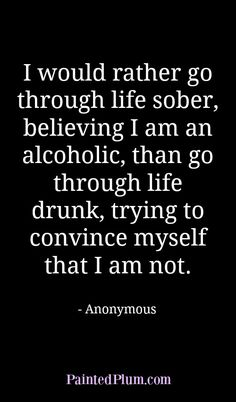 Quote about Alcoholism, Recovery and Sobriety