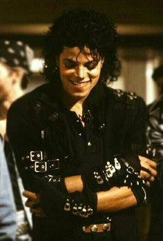 Michael Jackson on the set of Bad