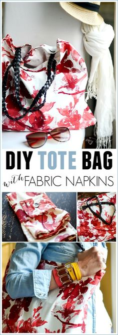DIY TOTE BAG using fabric napkins - Place Of My Taste