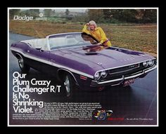 Dodge Challenger, 1970. MY DAD'S CAR. JUST TAKE THE WHITE STRIPE OFF THE SIDE. OMG!!! I WANT ONE!!!!!