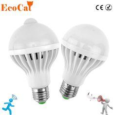LED PIR Motion Sensor Lamp 5w 220v Led Bulb 7w 9w 12w Auto Smart Led PIR Infrared Body Sound + Light E27 Motion Sensor Light  Price: 8.99 & FREE Shipping  #tech|#electronics|#bluetooth|#computers