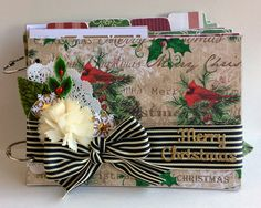 The Storybook Christmas Stack, burlap stack and glitter cardstock are the perfect companions to such pretty holiday dies. Thank you to both Spellbinders and DCWV for such amazing products to work with. I am going to really enjoy filling my album with Christmas photos this season.