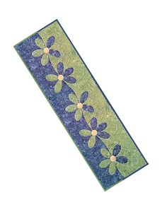 (7) Name: 'Quilting : Wavy Daisy Table Runner/ Wall Hanging