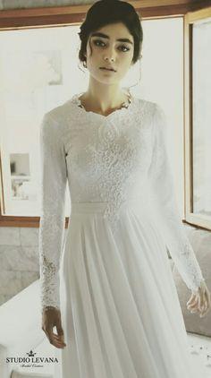 Wedding dress that is classy in its modesty. Sol. Studio Levana