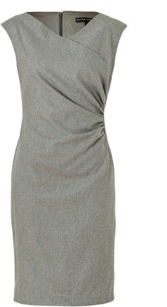 Steel Luxury Flannel Deidre Dress by Ralph Lauren
