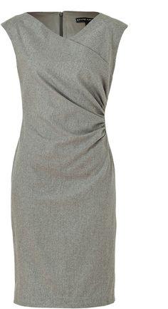 Steel Luxury Flannel Deidre Dress by Ralph Lauren. Great work dress