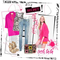 a touch of fuschia, created by lindagama on Polyvore