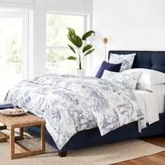Lanta Toile Organic Bedding #williamssonoma