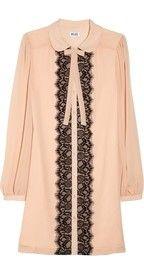 ALICE by Temperley%C2%A0Mini Pirouette lace-appliqu%C3%A9d crepe dress