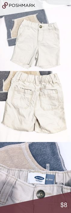Canvas Cutoff Shorts These are the perfect summer shorts. Light khaki color that goes with everything and trendy factory cutoff hem. Excellent condition. Take advantage of Bundling to save💲on items and shipping!! 👍🏽 Old Navy Bottoms Shorts
