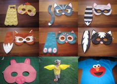 Animal masks and tails