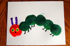 "We had fun today being inspired by the famous Eric Carle book ""The Very Hungry Caterpillar"". I've seen some awesome caterpillar prints around blog land lately using a balloon and thought my boys would really enjoy this technique. Anyways, on to our balloon painted caterpillar. Here is mine pictured below. They are so simple to make. …"