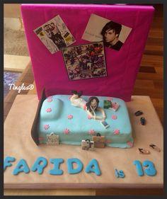 Farida's 13th birthday cake. Teenage room.