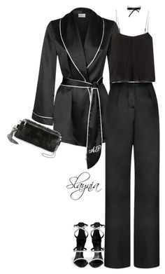 Nightingale by slaynia on Polyvore featuring polyvore fashion style Agent Provocateur T By Alexander Wang Giuseppe Zanotti Monique Lhuillier Fallon clothing