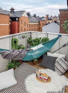 Um jardim para cuidar: Descansar na rede..