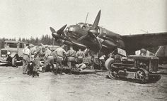 "Finnish Air Force 2./LeLv.44 Junkers Ju-88A ""JK-262″ being armed at Onttola airfield. June 1943."