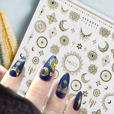 3D Nail Stickers Star/Moon Image    https://www.angelstore.online/3d-nail-stickers-star-moon-image/  #makeup #instamakeup