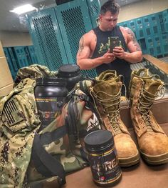 #SupportMilitaryMuscle .... What's in your gym bag? Photo by SLR Elite Athlete Elijah Maine   SLRsupplements.com