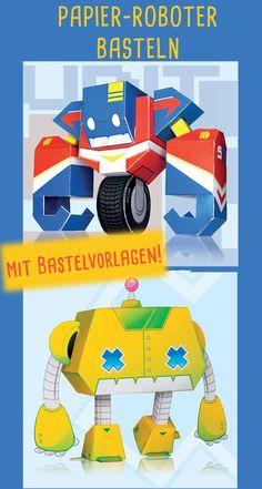 Bauanleitung für Papier-Roboter After School Club, School Clubs, Crafts, Paper, Craft Instructions For Kids, Robot, Lanterns, Counseling, Manualidades