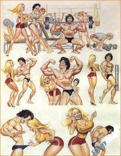 Erotic cartoon strip DOLLY, by Spanish artist, Blas Gallego.