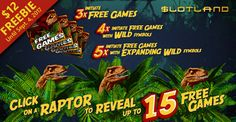 Dinosaurs Rule in #Slotland Casino New #LostWorldSlot  Go Back to a Time when Dinosaurs Ruled the Earth in Slotland Casino New Lost World Slot with Shifting Reels and 'Devour' Symbol Replacement Feature  https://www.playcasino.co.za/blog/dinosaurs-rule-slotland-casino-new-lost-world-slot/