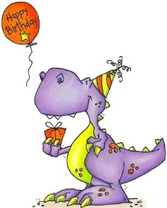 Dinosaur Birthday Clip Art