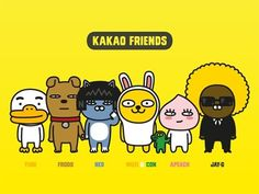 Kakao Friends is a famous conversation appa at korea. It has launched many products, like a bread, dolls, bags. Friends Gif, Line Friends, Character Aesthetic, Character Design, Kakao Friends, Mood And Tone, Mascot Design, Kids Tv, Wallpaper Iphone Cute