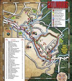 Detailed Map of Gatlinburg | Gatlinburg Maps | Gatlinburg Space Needle Times
