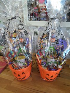 Halloween sweet bucket hampers made to order for specific ages