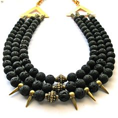 Diwana Necklace Black, $74, now featured on Fab.