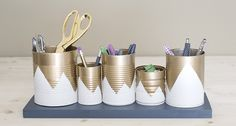 Spéciale rentrée : transformer des boîtes de conserve en pot à crayon !
