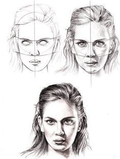 How to Draw a Face - 25 Step by Step Drawings and Video Tutorials | Read full article: http://webneel.com/how-draw-faces-drawings | more http://webneel.com/drawings | Follow us www.pinterest.com/webneel #facedrawingtutorials #drawingfaces