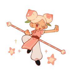 Game Character Design, Character Art, Peach Cookies, Cookie Run, Art Folder, Funky Art, Cartoon Art Styles, Super Hero Costumes, Cute Characters