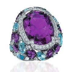 Amazing and Blue Topaz Ring from the Cellini Aurora collection by Cellini Jewelers