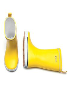 Love this Yellow Skerry Rain Boots - Women by Tretorn on #zulily! #zulilyfinds