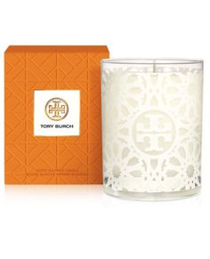 Chic Tory Burch Tile-Print Scented Candle http://rstyle.me/n/ts6t6bh9c7