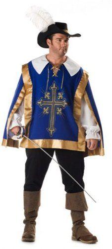 Super Deluxe Musketeer Plus Size Costume - Mens XXXL (54-56) - Click  sc 1 st  Pinterest & 103 best Men Medieval Renaissance Costumes images on Pinterest ...