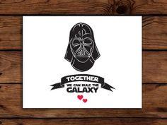 Star Wars Valentine Card Printable // Darth by SomebodyLovedShop, $3.00