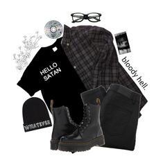 """Untitled #90"" by literaldisaster ❤ liked on Polyvore featuring Bonpoint, Local Heroes, Gestuz and Dr. Martens"