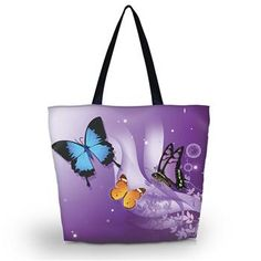 Butterfly Purple Tote Bag