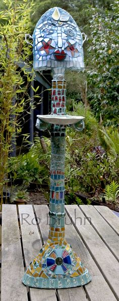 Ro Bruhn - one of my mosaic bird feeders