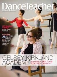 Our November issue with cover-star Gelsey Kirkland is here! Gelsey is co-artistic director of the Gelsey Kirkland Academy of Classical Ballet, where she strives to return classicism to traditional ballet training. Learn more in our November issue : http://bit.ly/1wXnsQL